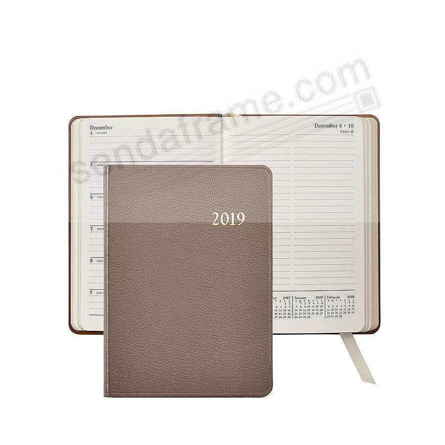 2019 ASSORTED COLORS Notebook Planner 7inch Fine Leather by Graphic Image™