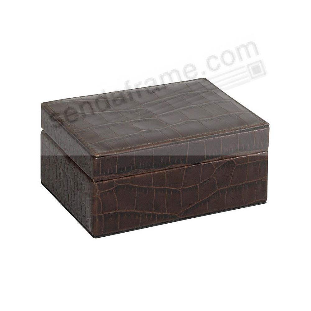 SMALL BOX CROCO-Leather BROWN by Graphic Image™