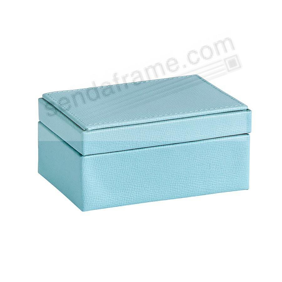SMALL BOX LUXE ROBINS-EGG BLUE Leather by Graphic Image™