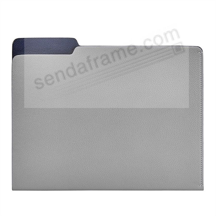 The CARLO File Folder Slate Nappy Leather by Graphic Image®
