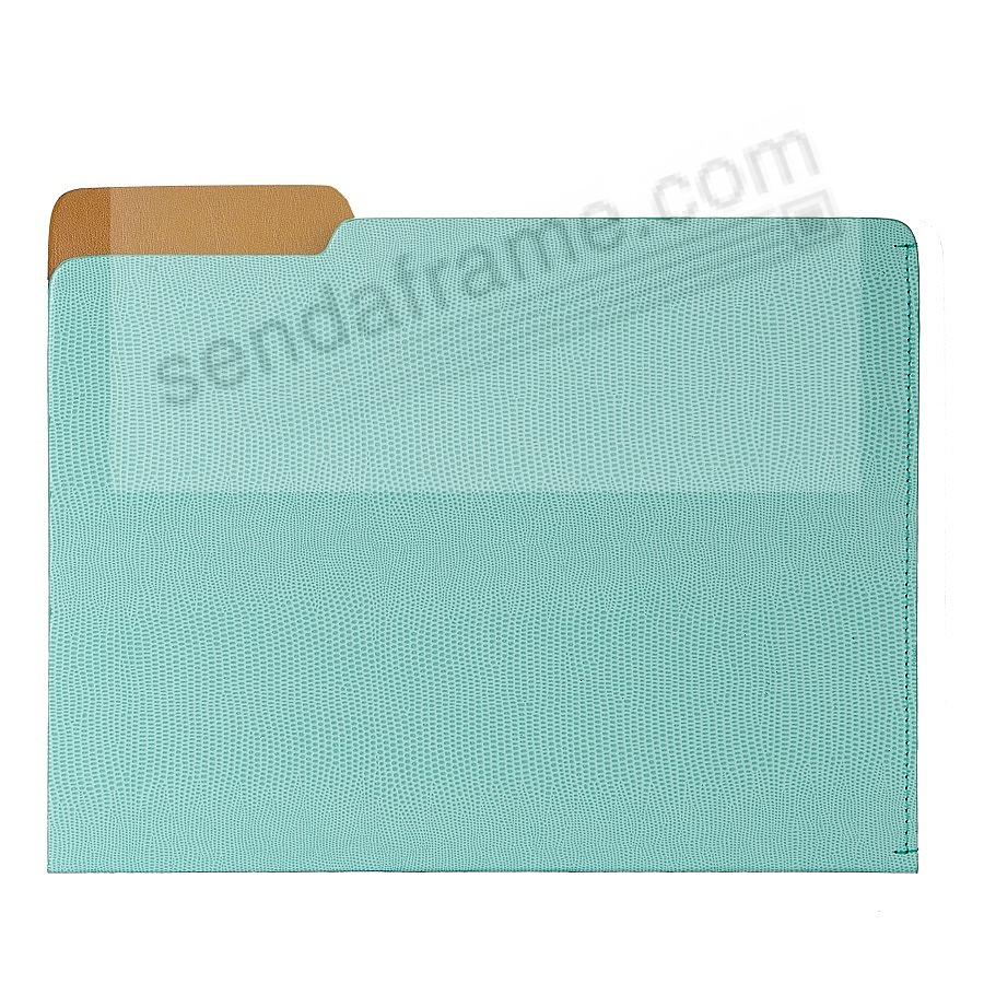 The CARLO File Folder Robins-Egg-Blue Lizard-Embossed Paper by Graphic Image®