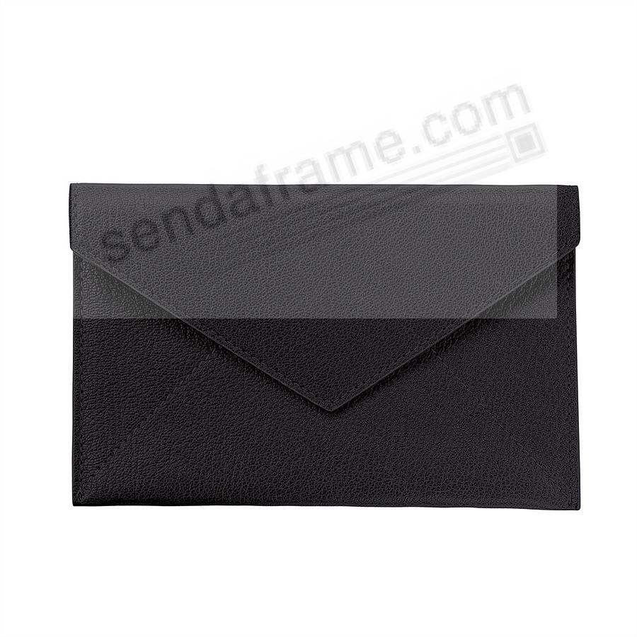 BLACK luxe Leather Photo Envelope (Medium) by Graphic Image™