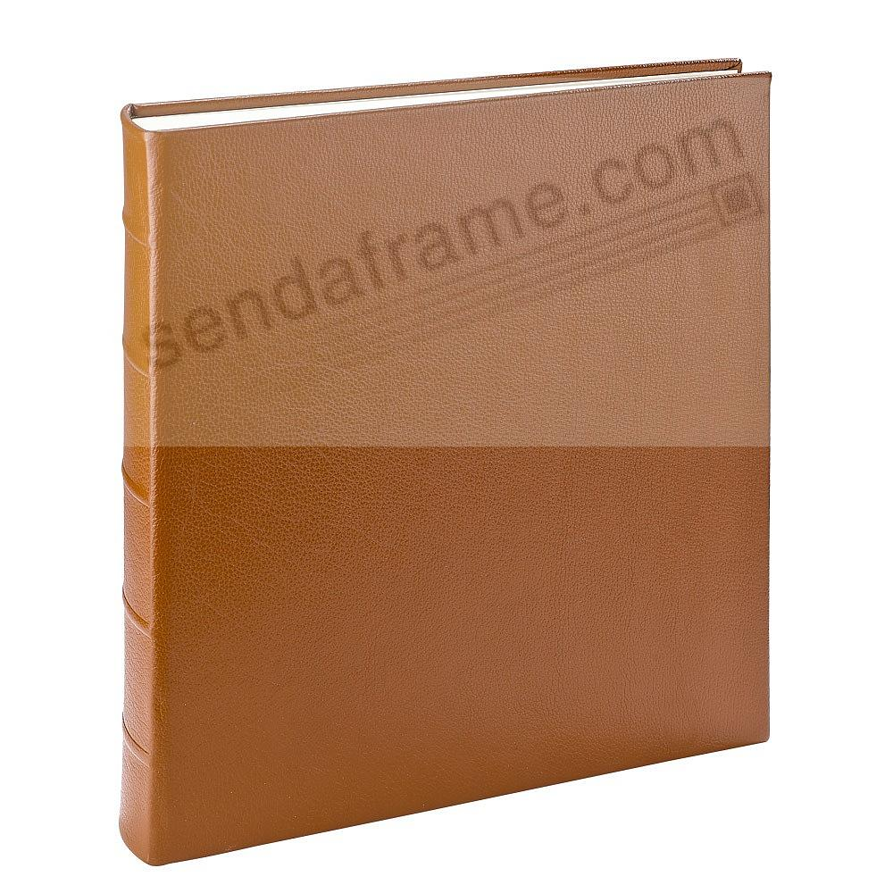 LARGE 13x13 SADDLE Pebble Grain Leather Bound Album<br>by Graphic Image™