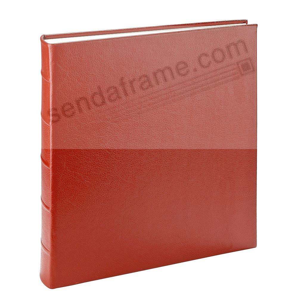 LARGE 13x13 RED Pebble Grain Leather Bound Album<br>by Graphic Image™