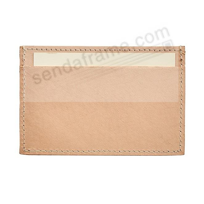 Slim Design Card Case in Natural Vachetta Leather by Graphic Image®