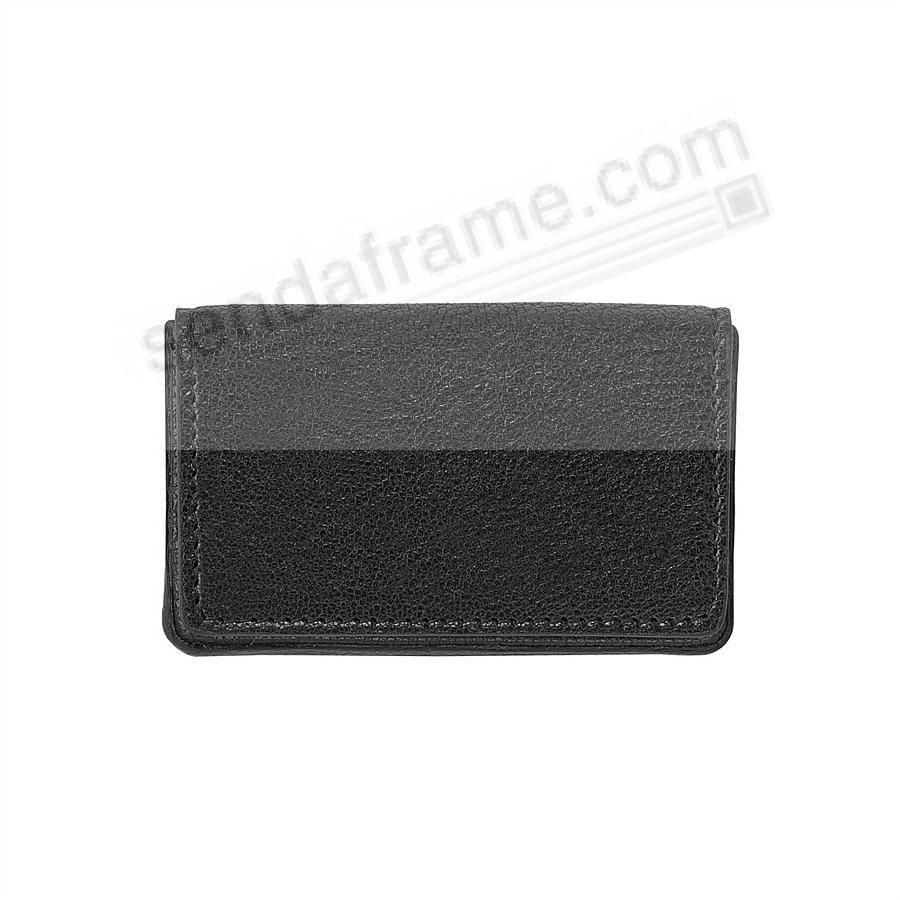 CARD CASE (HARD) in BLACK Leather by Graphic Image®