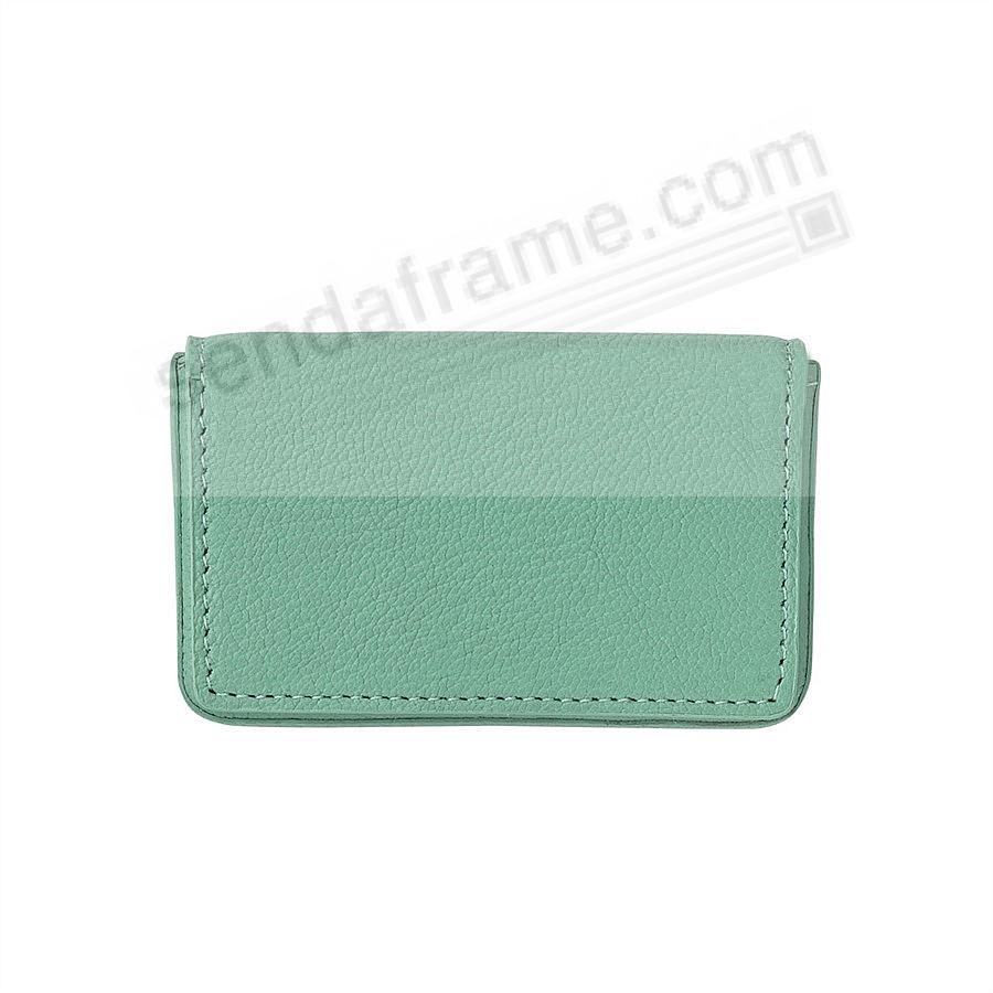 CARD CASE (HARD) in ROBINS-EGG-BLUE Leather by Graphic Image®