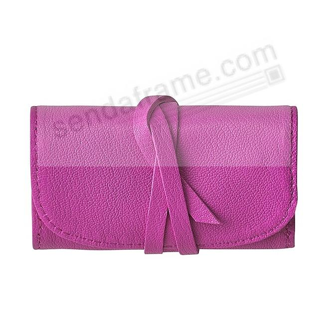 BRIGHTS ORCHID Fine Leather Jewel Roll by Graphic Image™