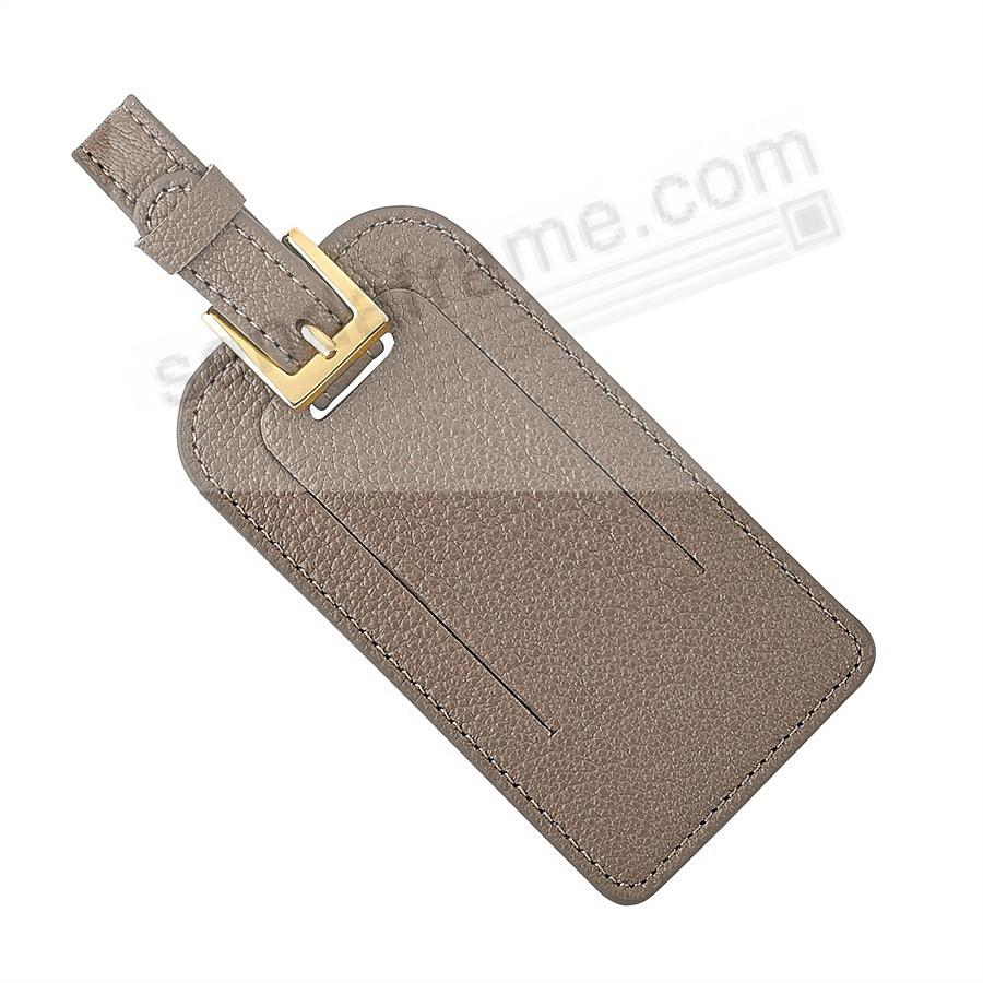 LUGGAGE TAG in BRIGHTS TAUPE Goatskin Leather by Graphic Image®