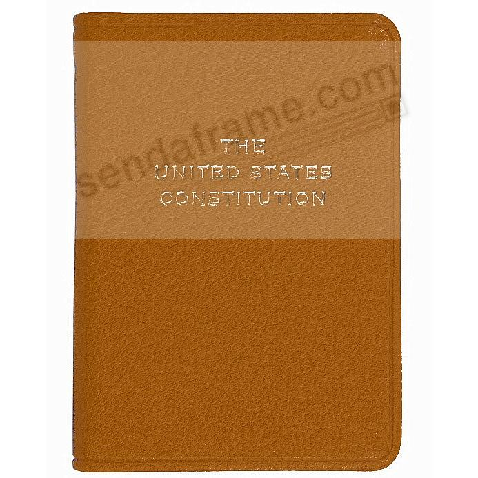 Palm Size Constitution in TAN Leather by Graphic Image™