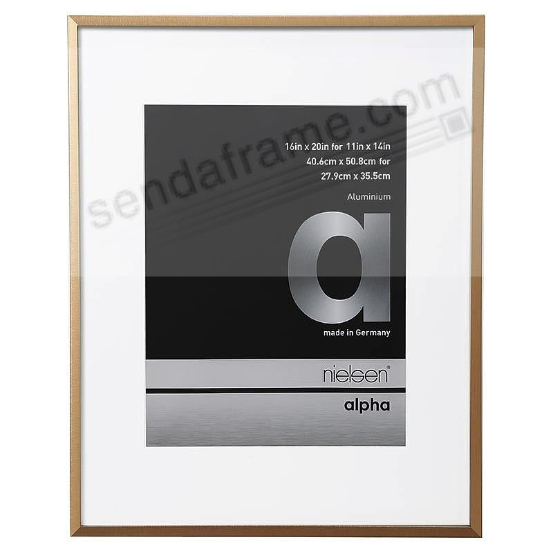 ALPHA Metallic Bronze 16x20/11x14 matted frame by Nielsen®