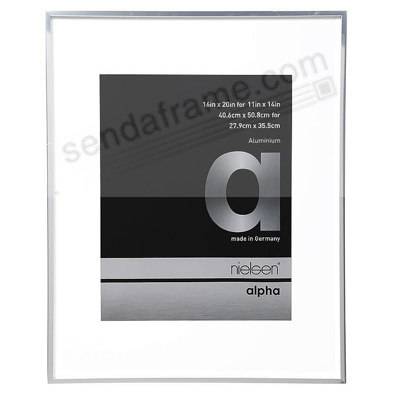 ALPHA Metallic Silver 16x20/11x14 matted frame by Nielsen®