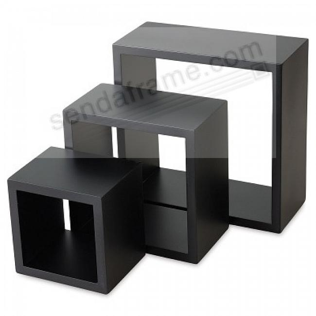 Nested Cubes (set of 3) Black by Gallery Solutions®