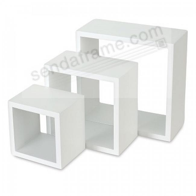 Nested Cubes (set of 3) White by Gallery Solutions®