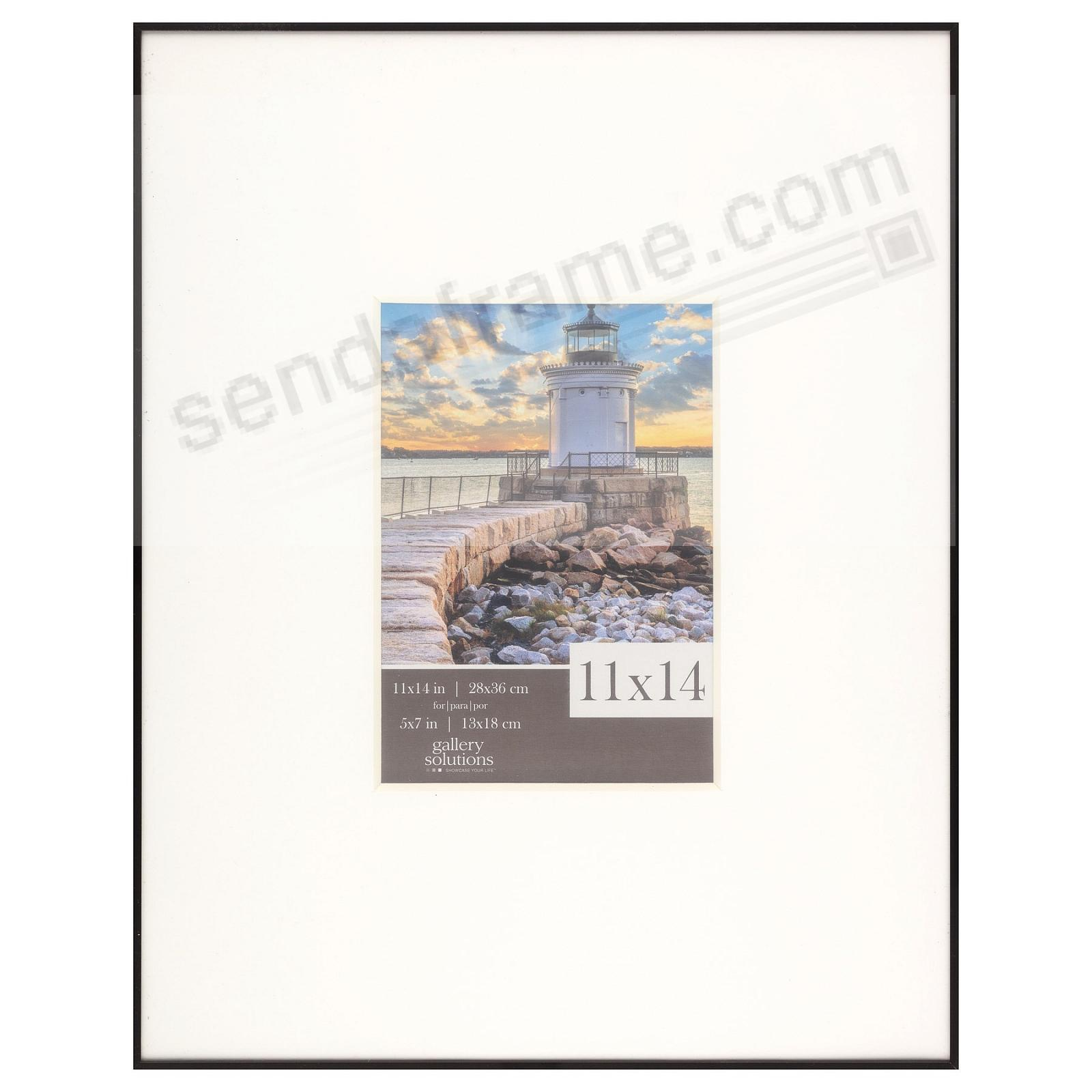 IMAGE series matted Black metallic frame 11x14/5x7 by Gallery Solutions®