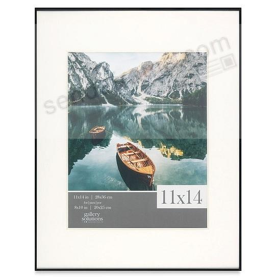 IMAGE series matted Black metallic frame 11x14/8x10 by Gallery Solutions®
