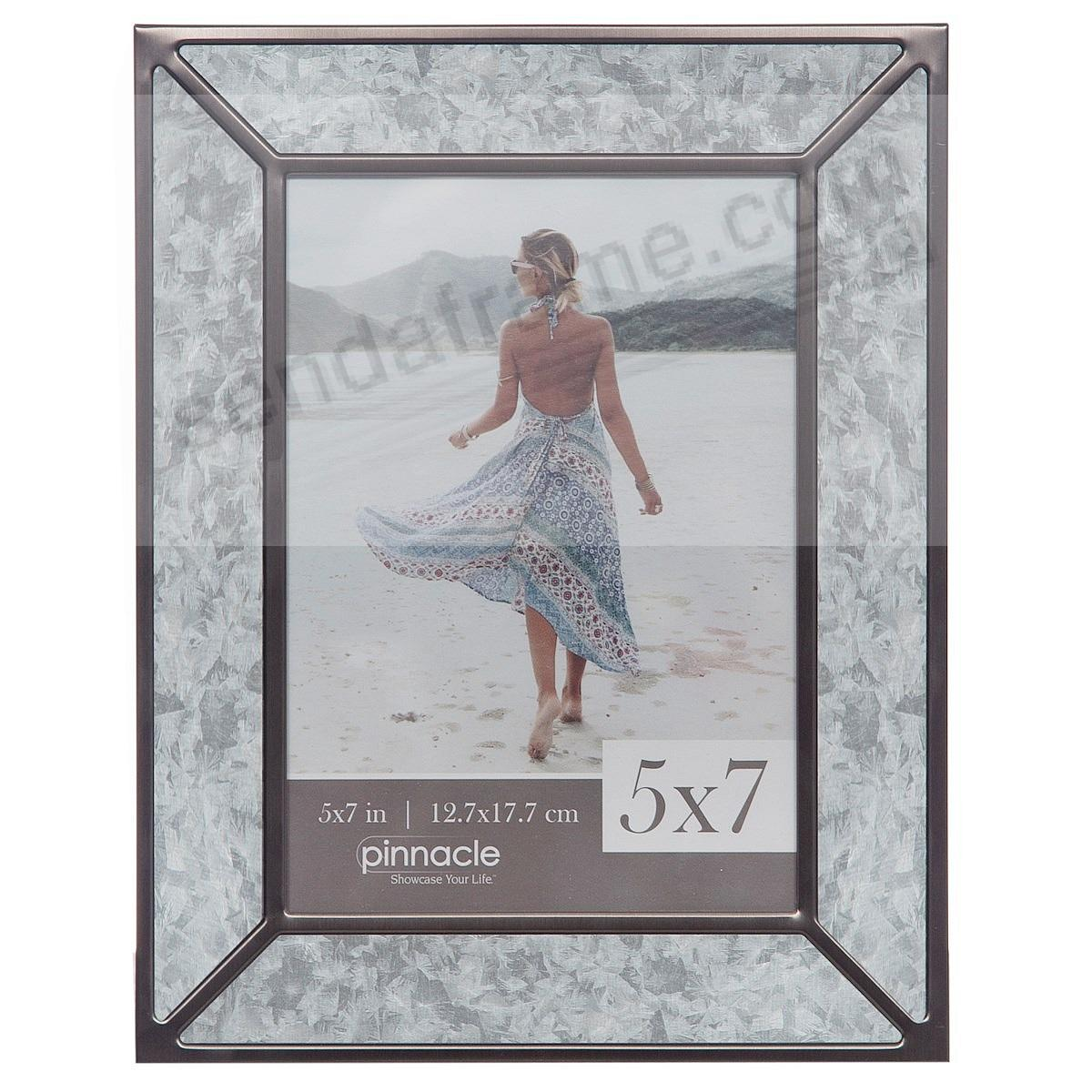 Galvanized metal inlay 5x7 frame by Pinnacle™