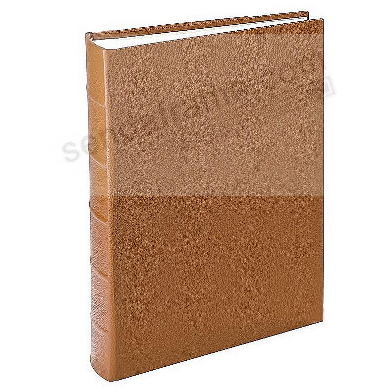 Traditional SADDLE Leather Medium Bound scrapbook-style album<br>by Graphic Image™