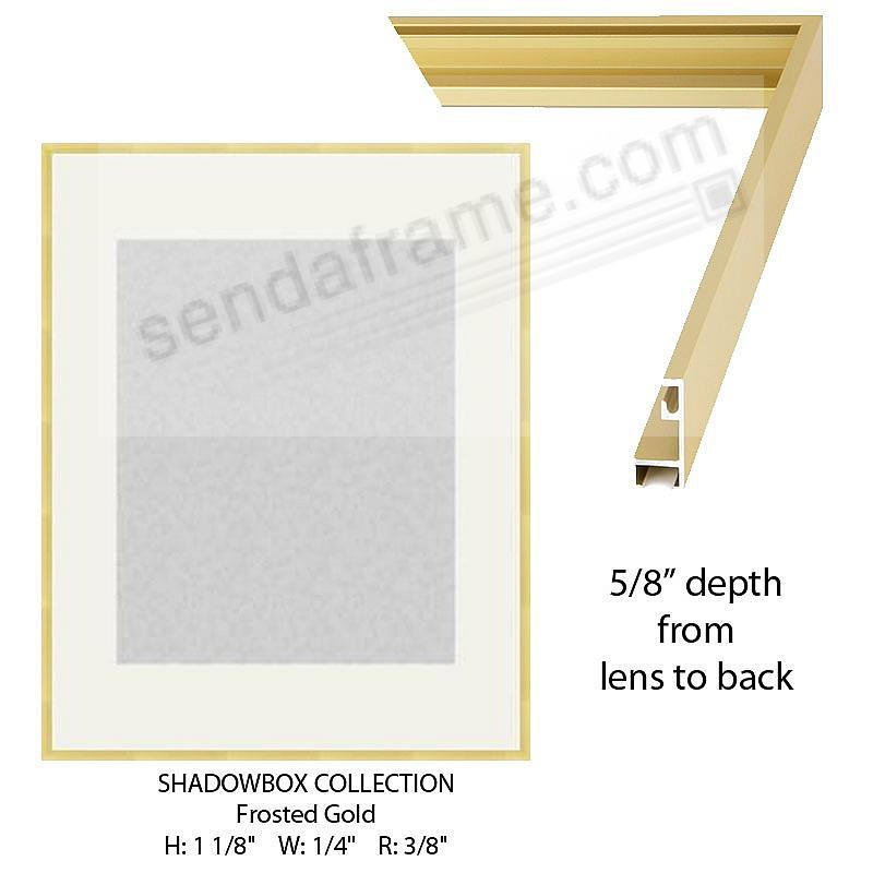 Custom-Cut™ SHADOW Box 5/8-in Depth - 22x28 Gold Metal H:1-1/8 W:1/4 R:3/8