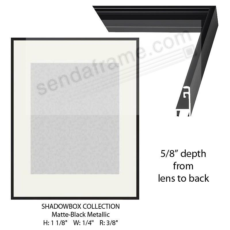 Custom-Cut™ SHADOW Box 5/8-in Depth - 11x14 Black Metal H:1-1/8 W:1/4 R:3/8