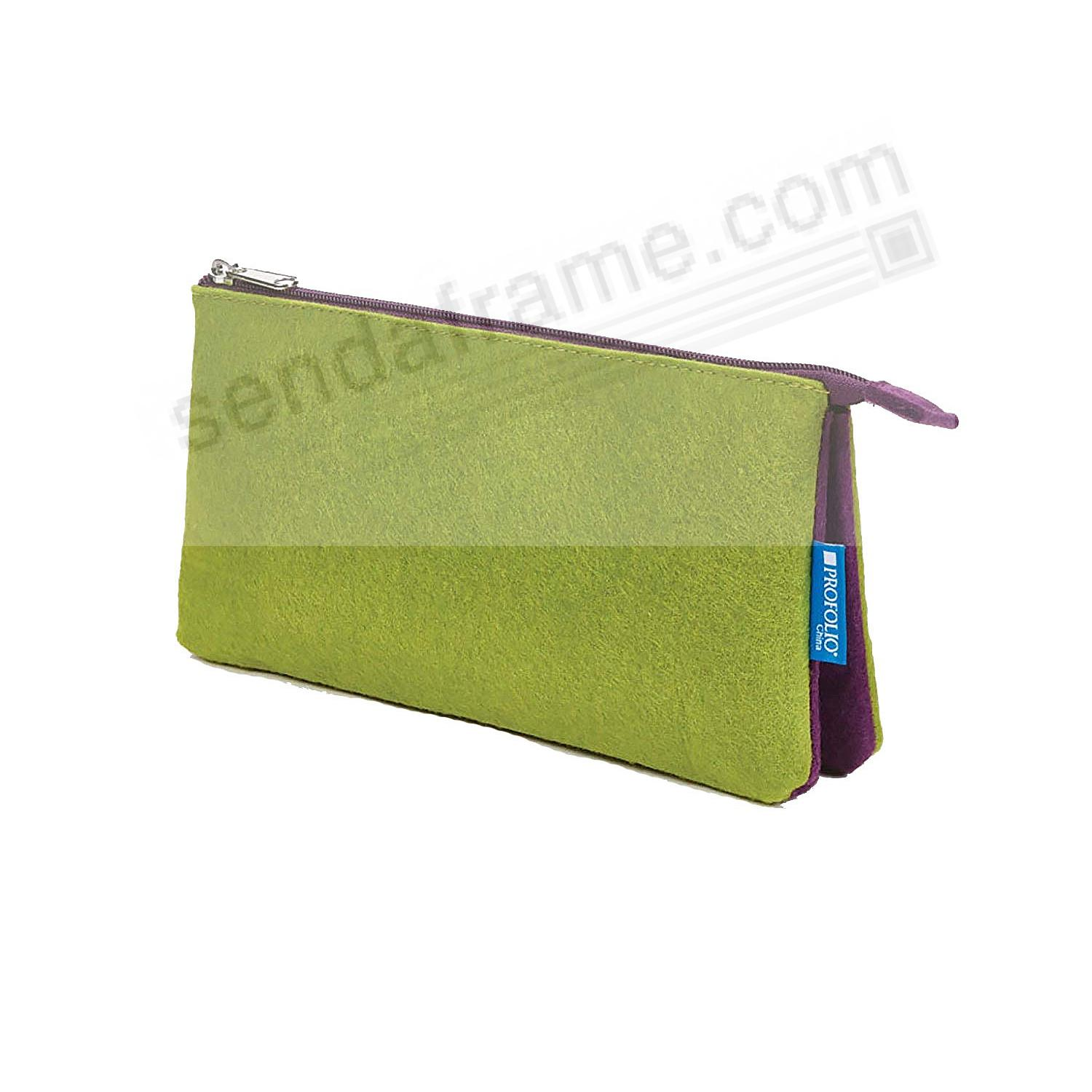 The NEW PROFOLIO MIDTOWN POUCH by Itoya - GREEN/Purple (4x7-Medum)