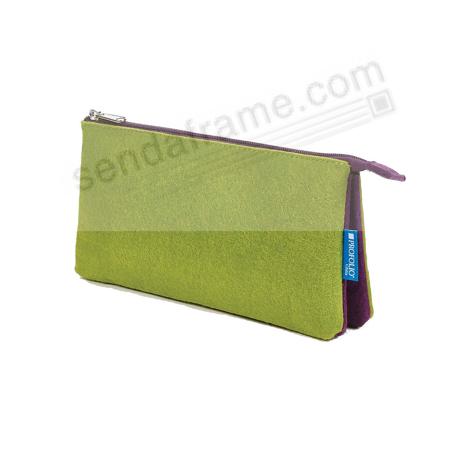 The NEW PROFOLIO MIDTOWN POUCH by Itoya - GREEN/Purple (5x9-Large)