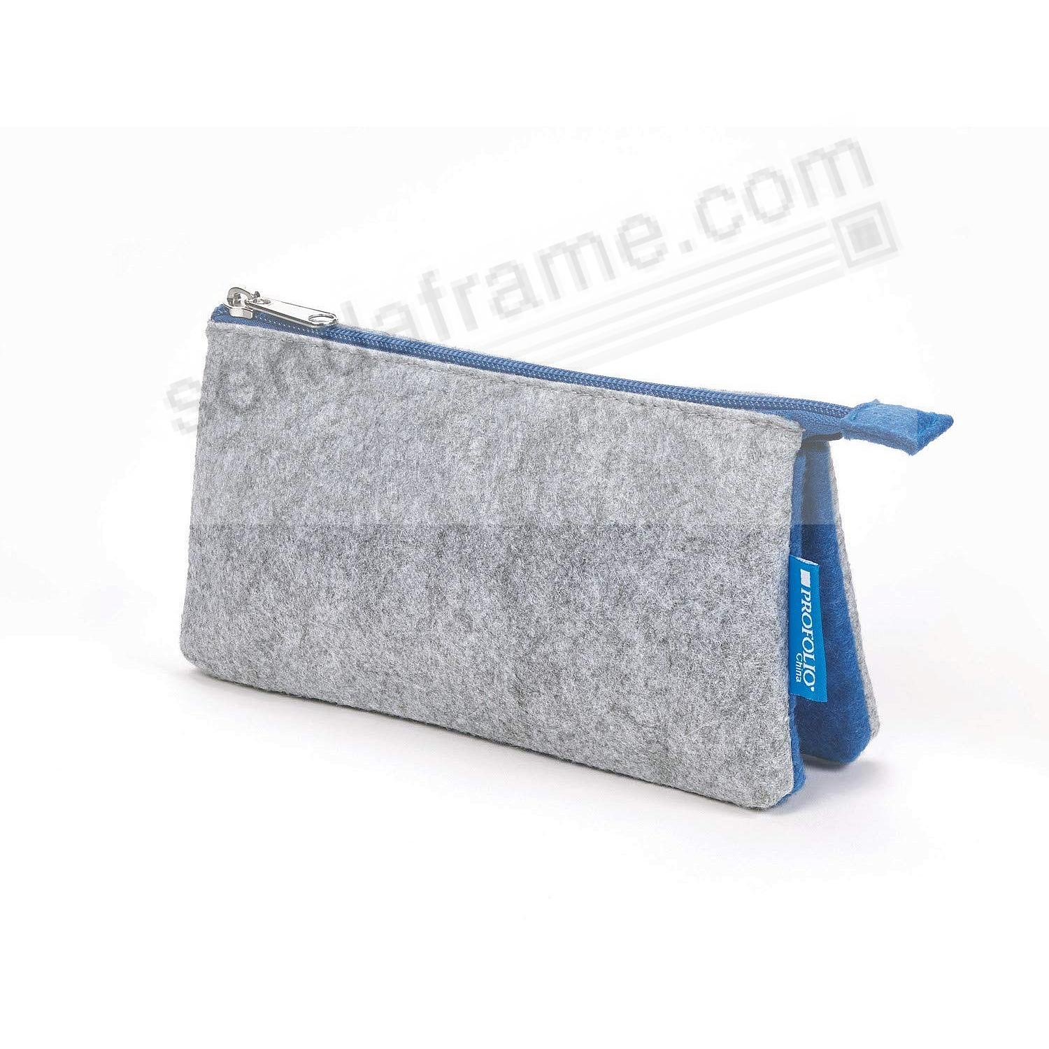The NEW MIDTOWN (5x9-Large) POUCH by Itoya - GREY/Blue