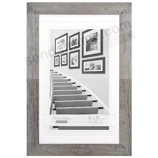 Gray MANHATTAN matted 12x19/11x17 frame by Malden Design®