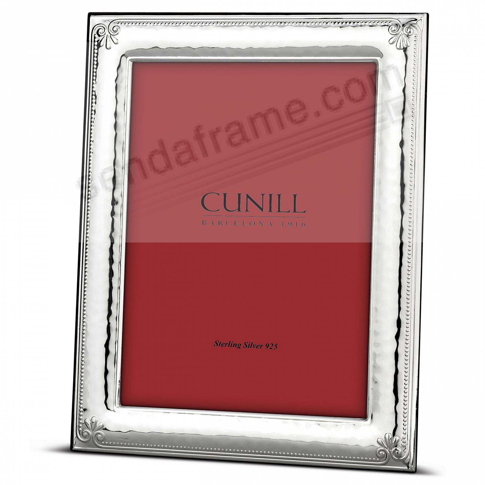 ORNAMENTAL Fine Sterling Silver 5x7 frame<br>by Cunill® Italy