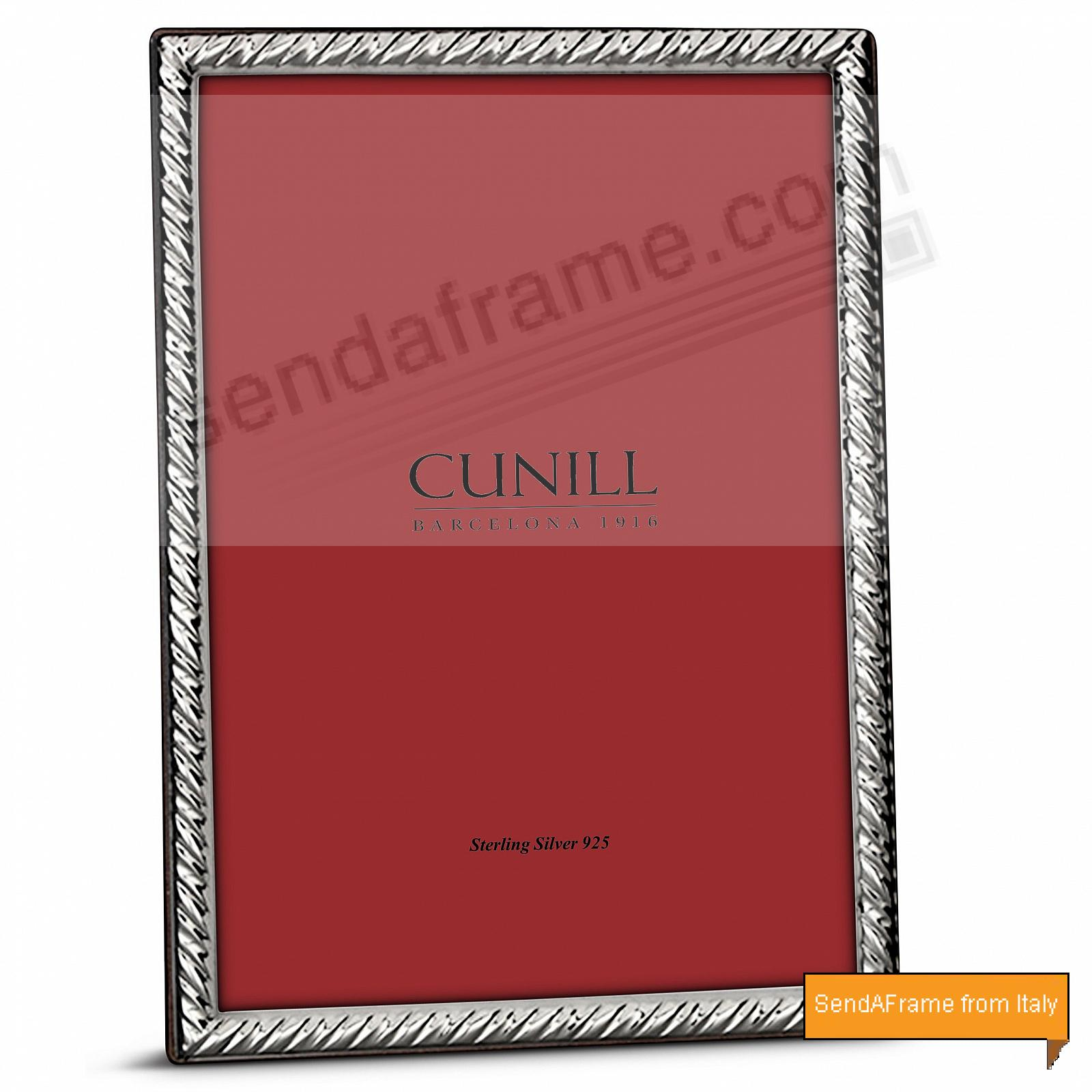 SASH Fine Sterling Silver 8x10/7x9<br>by Cunill® Italy