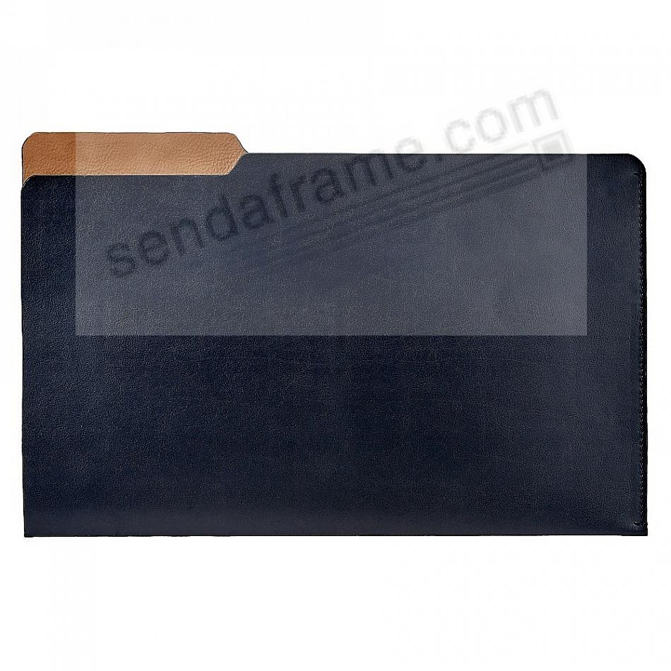 The LUCA LEGAL-Size File Folder NAVY/Brown by Graphic Image®