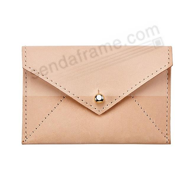 MINI ENVELOPE NATURAL VACHETTA Leather by Graphic Image®
