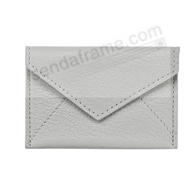 MINI ENVELOPE GREY Leather by Graphic Image®