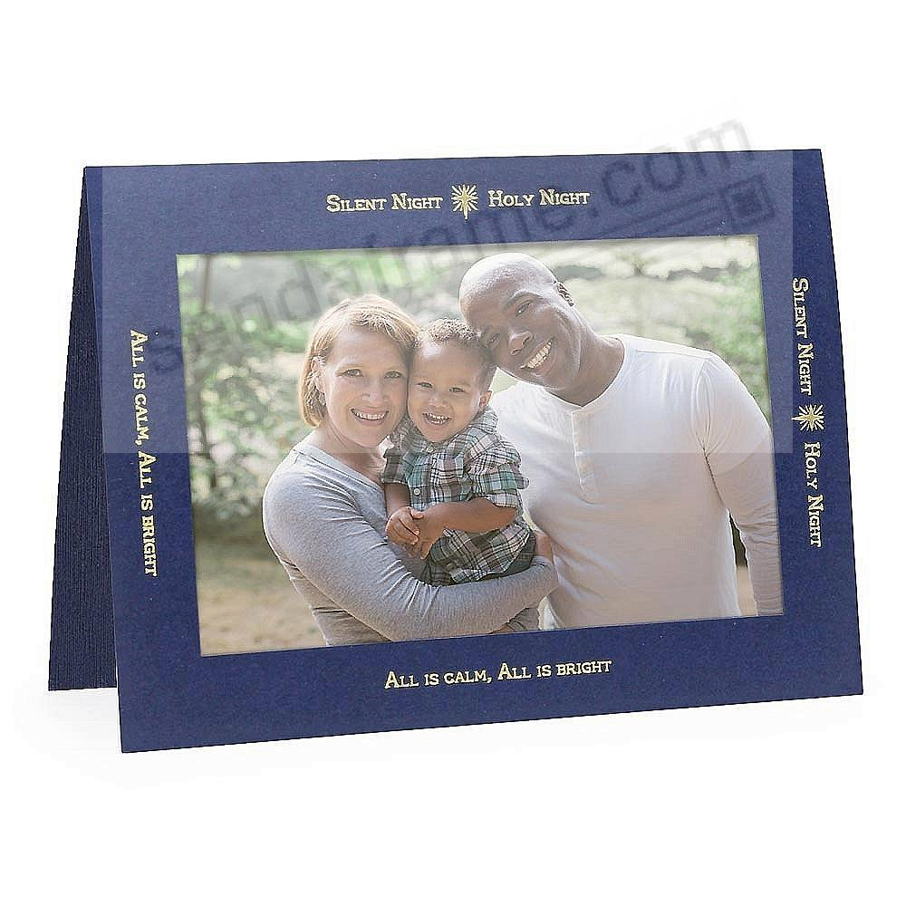 SILENT NIGHT CHRISTMAS<br>premium photo insert Holiday Card (sold in 10s)