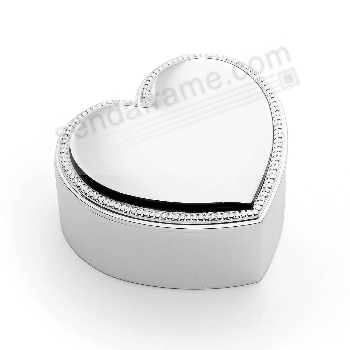 PRECIOUS HEART COVERED BOX by Reed & Barton®