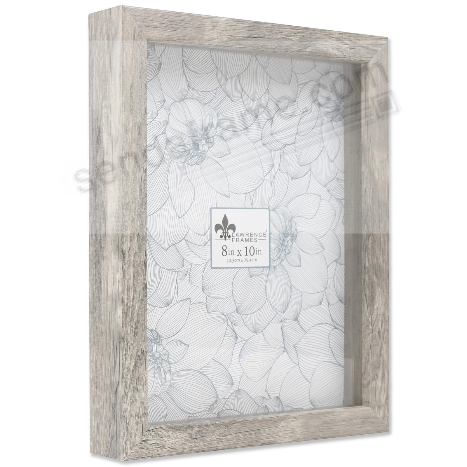 WEATHERED GRAY Trinket Box 8x10 frame ¾in depth by Lawrence®