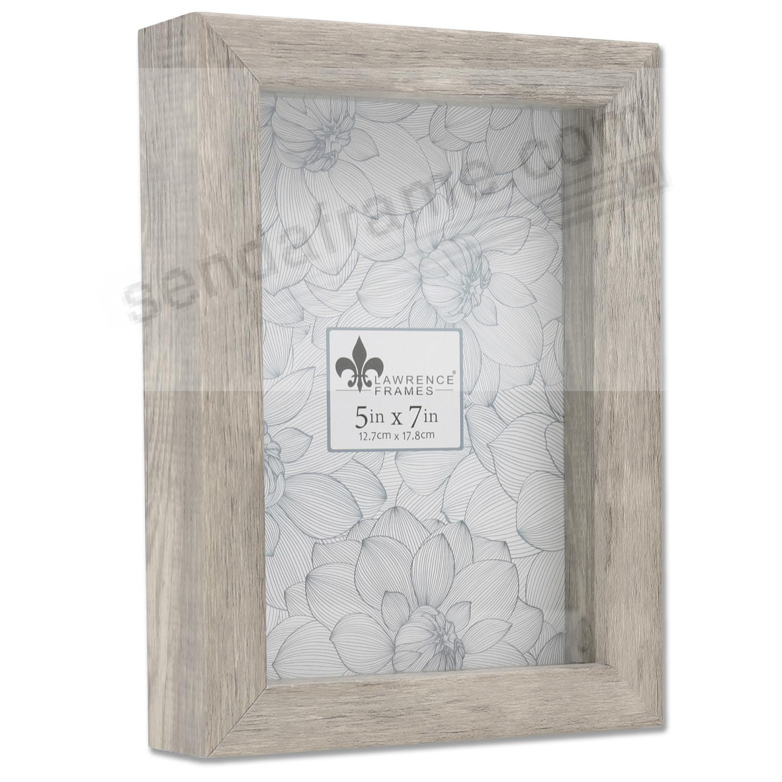 WEATHERED GRAY Trinket Box 5x7 frame ¾in depth by Lawrence®