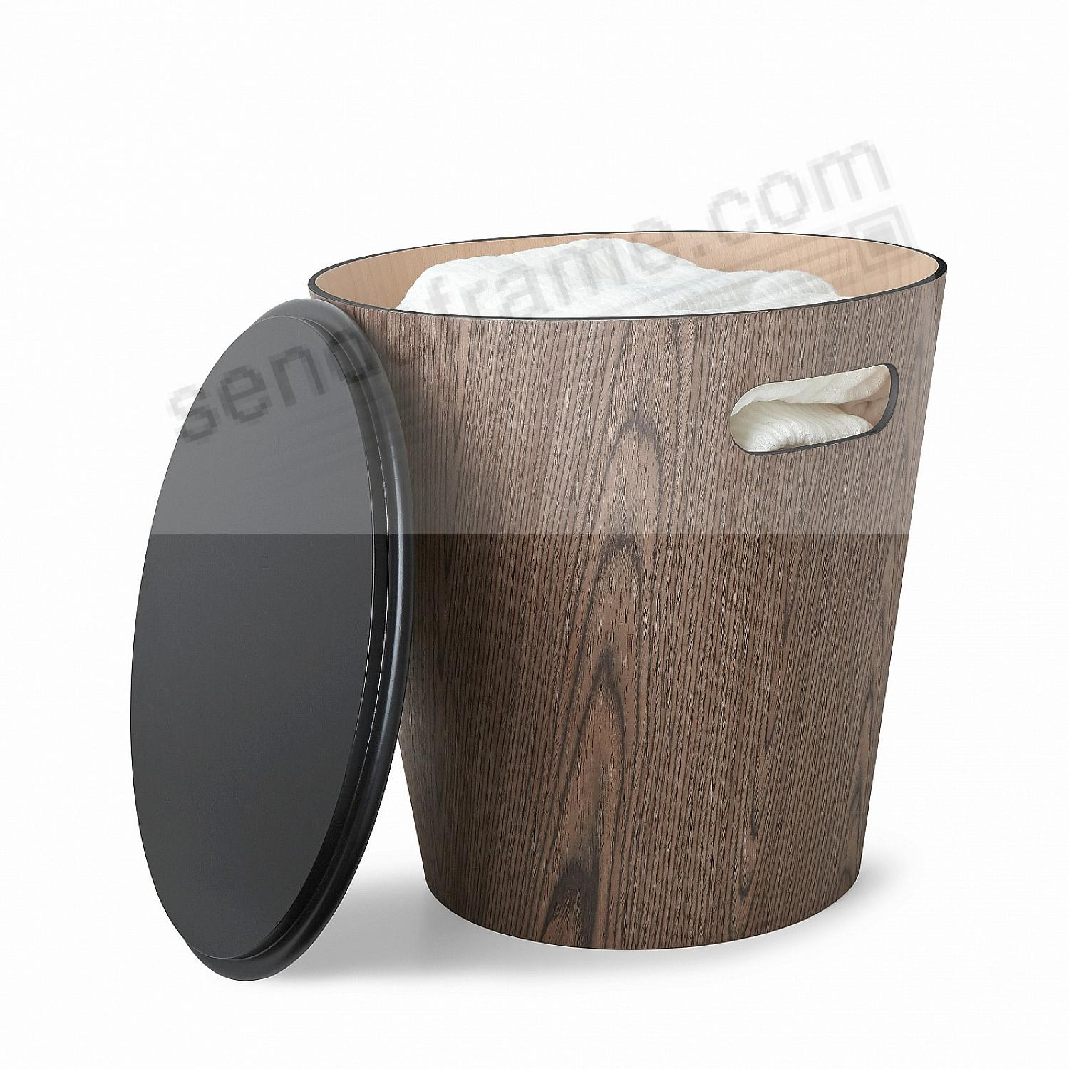 The Original WOODROW STOOL BLACK/WALNUT by Umbra®