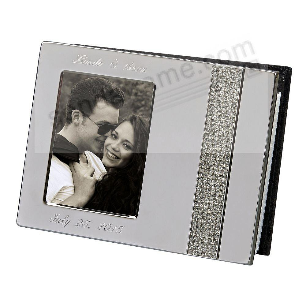 Polished Silver GLITTER Album with Window Cover holds 80 photos