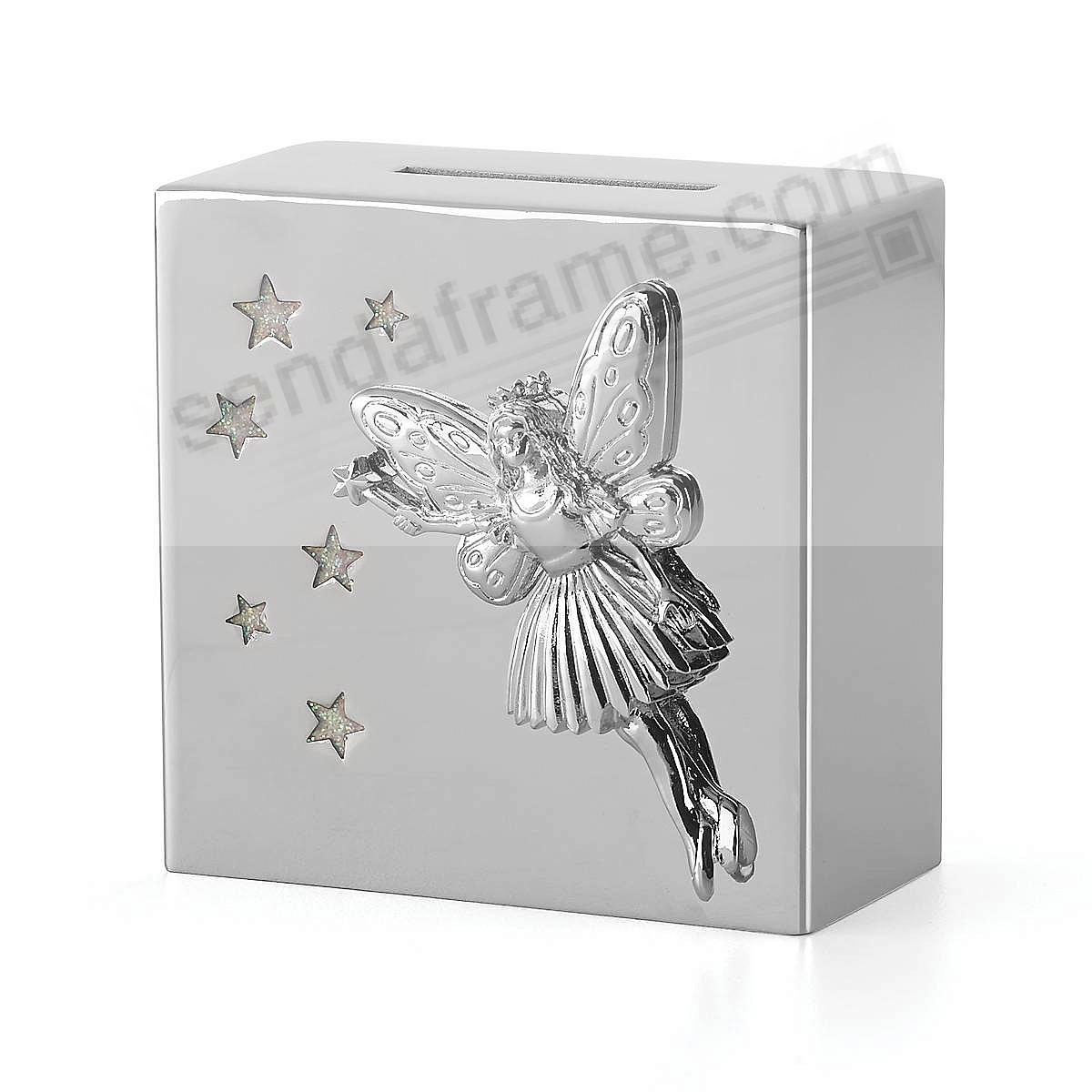 The FAIRY PRINCESS BANK in silverplate by Reed and Barton®