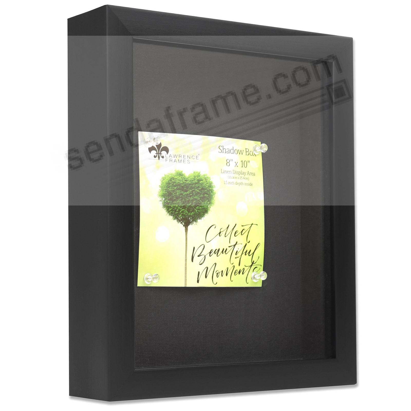 Black Shadow Box 8x10 frame 1½-inch depth by Lawrence®