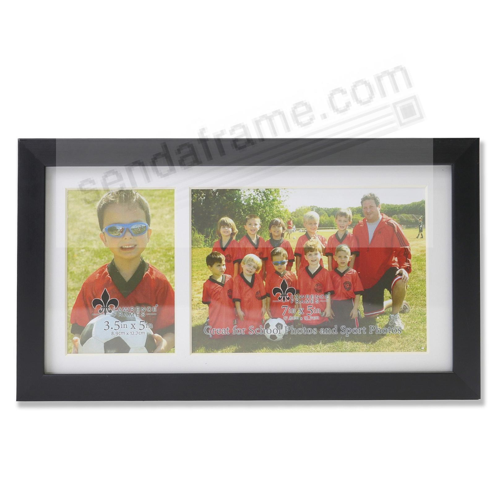 Our Team Black Collage frame 3½x5/7x5 instantly personalizes your group