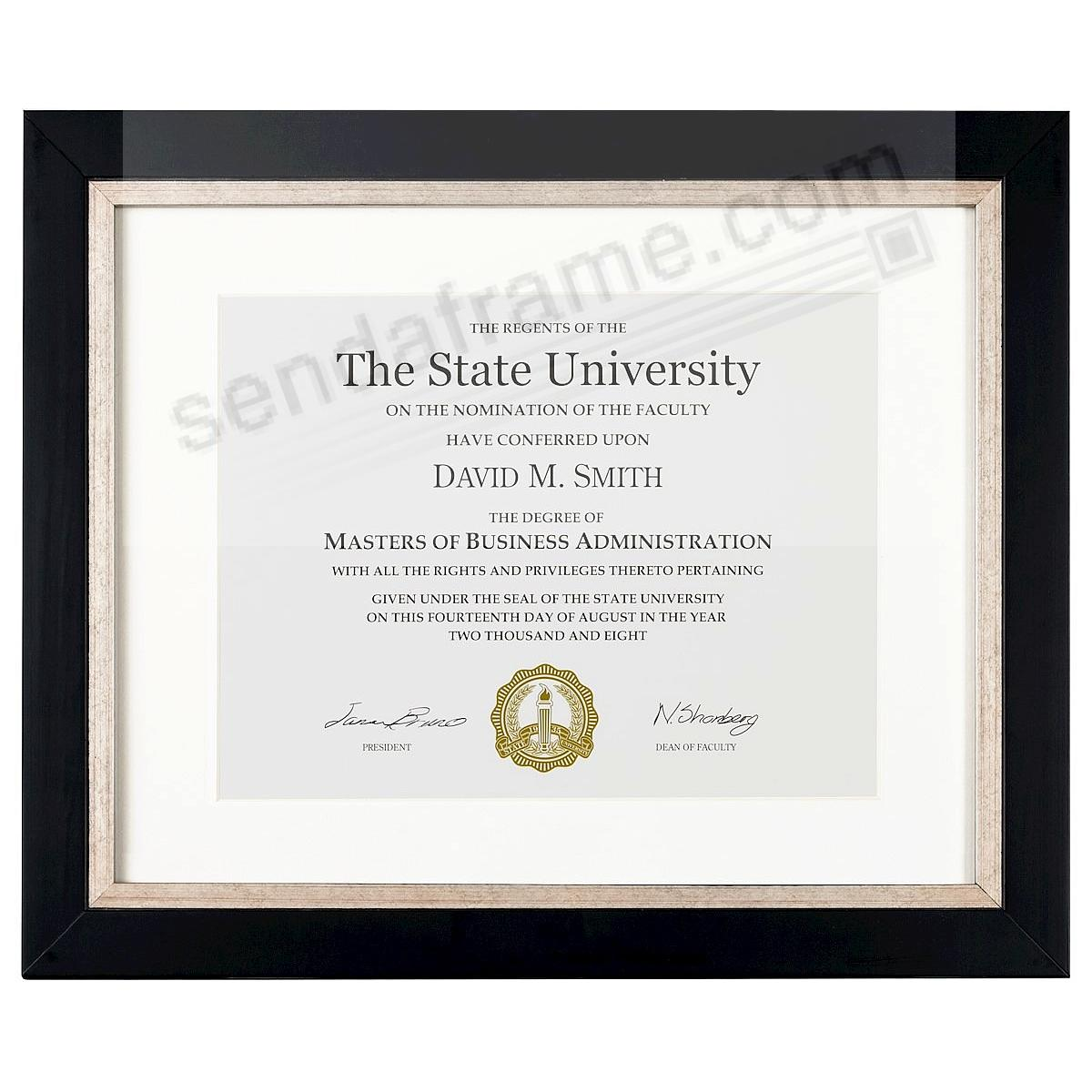 TAYLOR Two-Tone Black/Champagne ARTCARE 11x14/8.5x11 certificate frame by Nielsen®