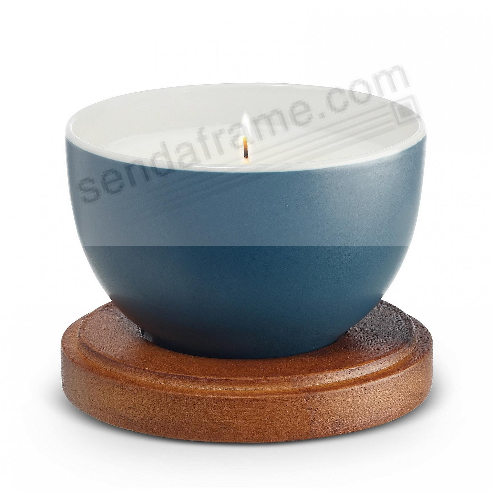 AURORA-BLUE Prism Candle with Lid by Nambe®