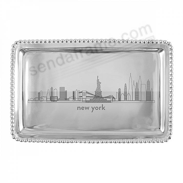 The NEW YORK CITYSCAPE BEADED BUFFET TRAY crafted by Mariposa®