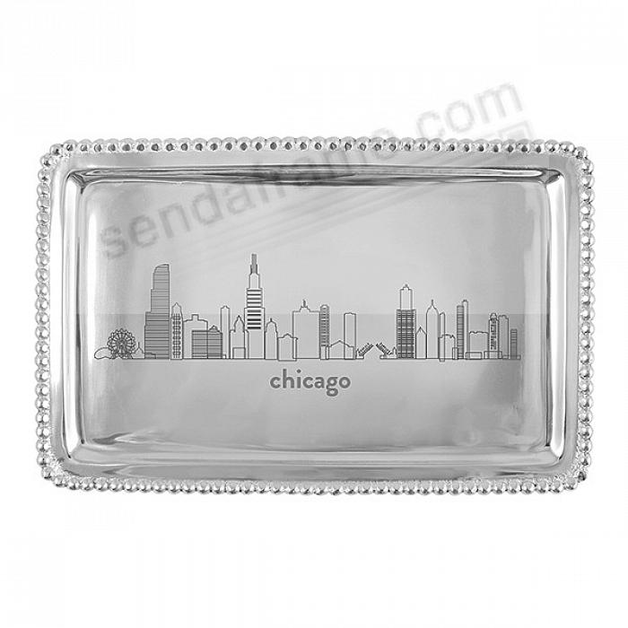 The CHICAGO BEADED BUFFET TRAY crafted by Mariposa®