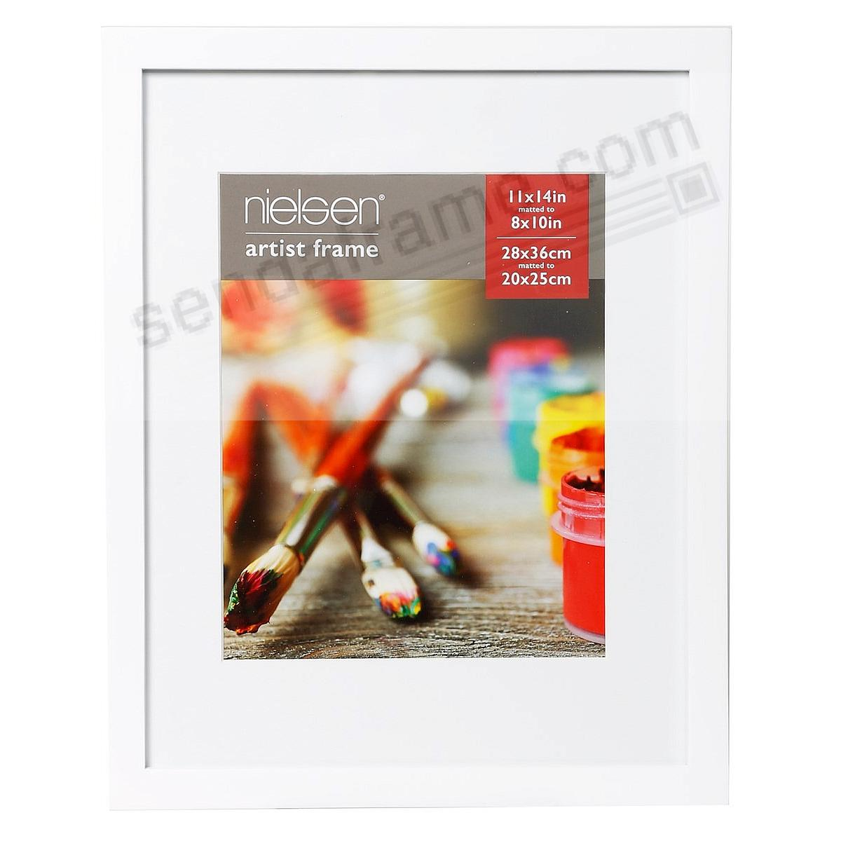 Matte-White GALLERY-CANVAS DEPTH matted wood frame 11x14/8x10 by Nielsen-Bainbridge®