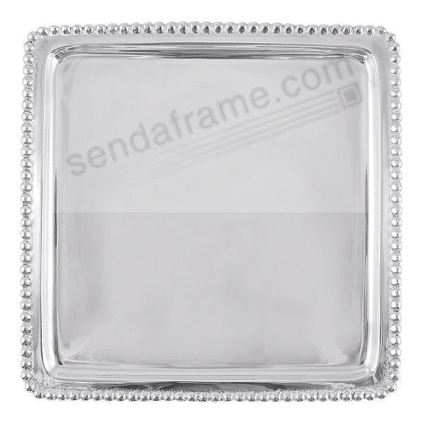 The BEADED SIGNATURE LUNCHEON TRAY 8x8 crafted by Mariposa® - Beautifully Engraveable