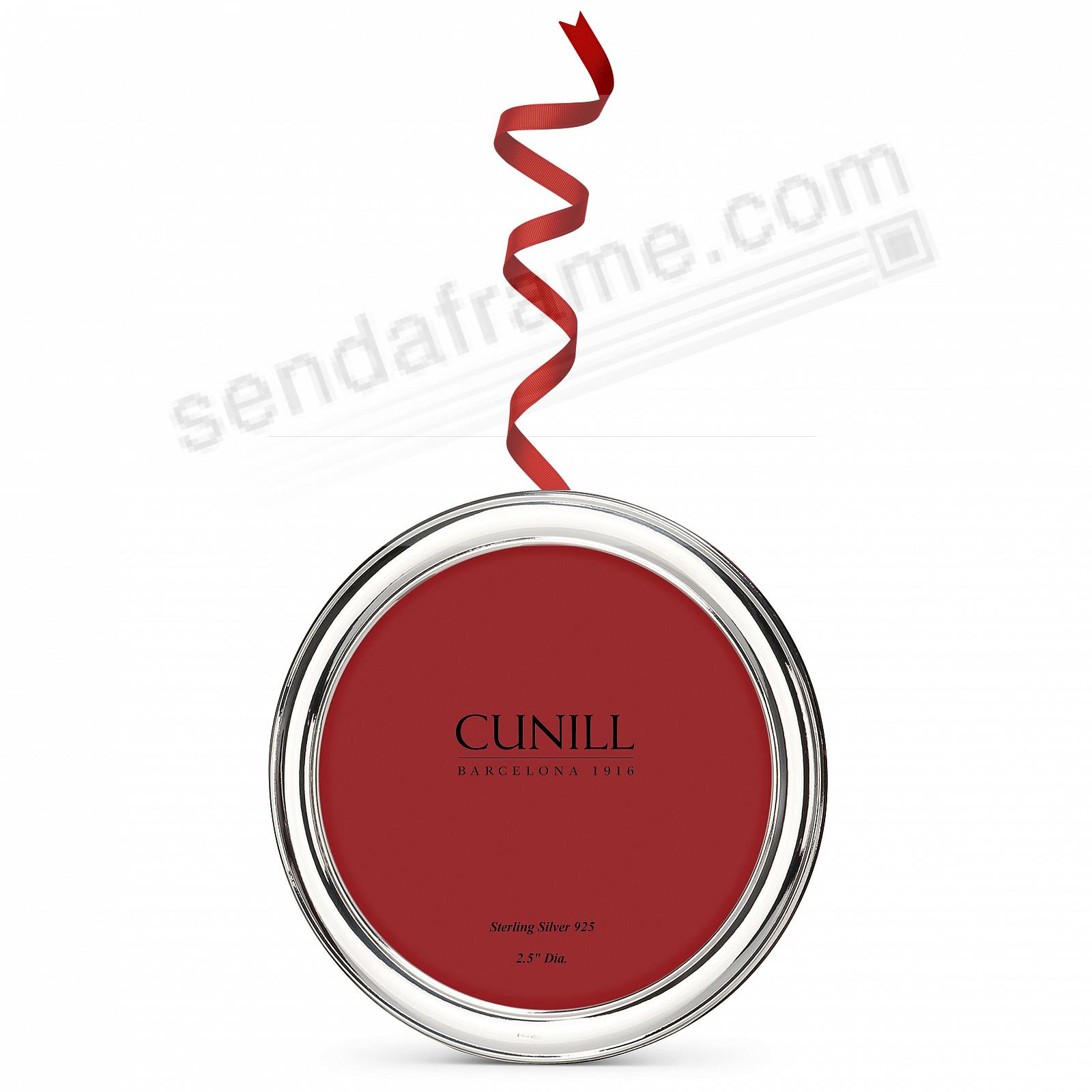Fine Sterling PLAIN ROUND 2-in-1 Ornament/Frame by Cunill® Italy
