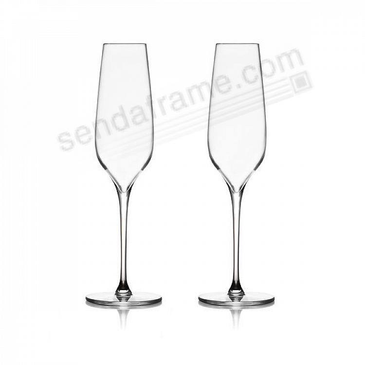The VIE CHAMPAGNE Toasting FLUTES by Nambe® (set of 2)